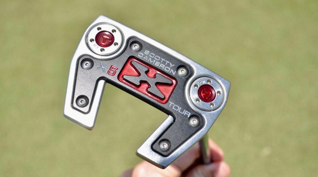 Justin Thomas' Scotty Cameron X5 Flow Neck Prototype mallet.