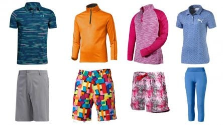 kids golf apparel