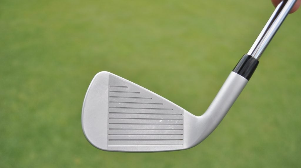 A face-on look at Moore's 0311 ST irons.