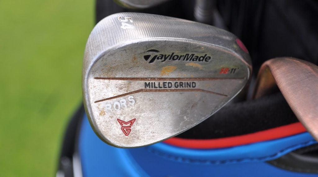 Rory McIlroy's TaylorMade Milled Grind wedges.