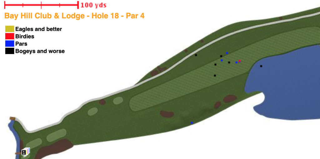 Only one tee shot from Si Woo Kim's Bay Hill career traveled far enough to reach the lake.