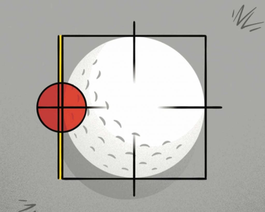 Shifting your sight line forward even this small amount nudges your center of gravity toward the target.