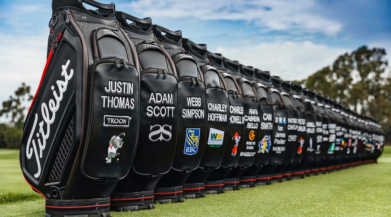 Titleist's new staff bags are based on the forthcoming 2020 Jet Black collection.