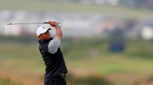 Tiger Woods plays a different shaft flex in his irons and wedges.