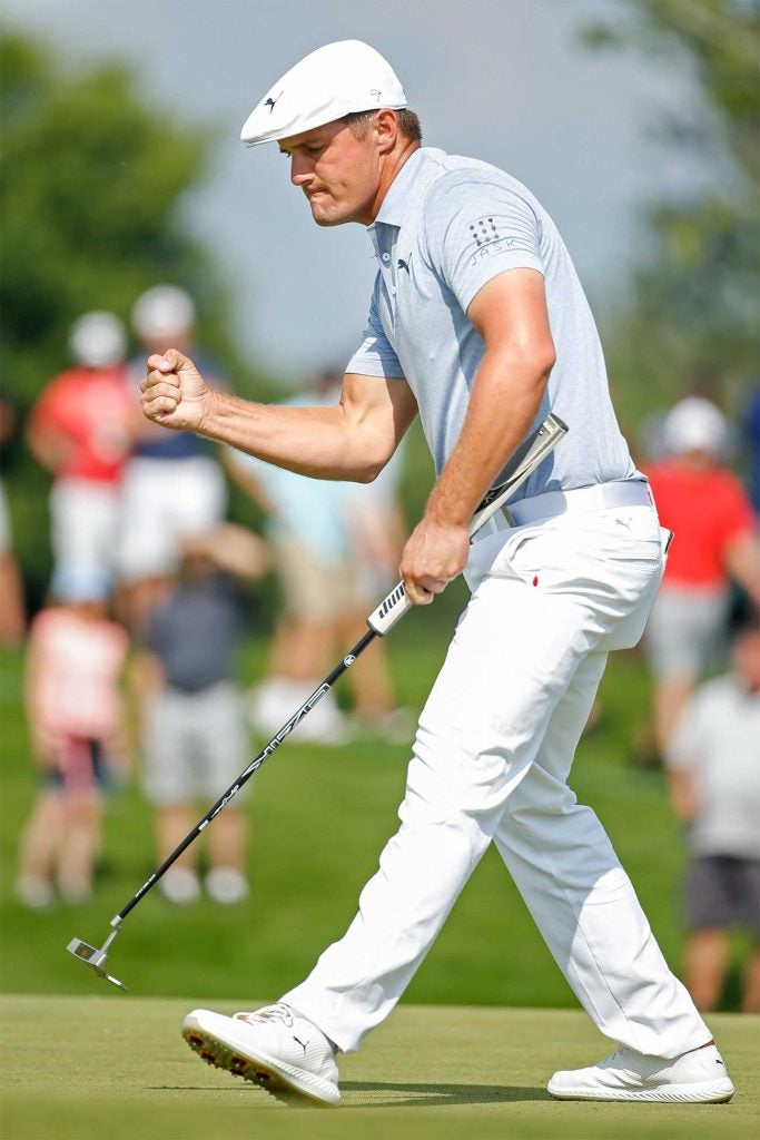 DeChambeau threatened at the 3M Open, then couldn't believe it when Matthew Wolff beat him on the 18th.