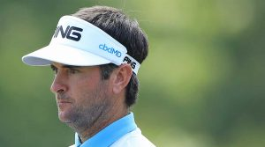 Bubba Watson has CBDmd on the side of his visor.