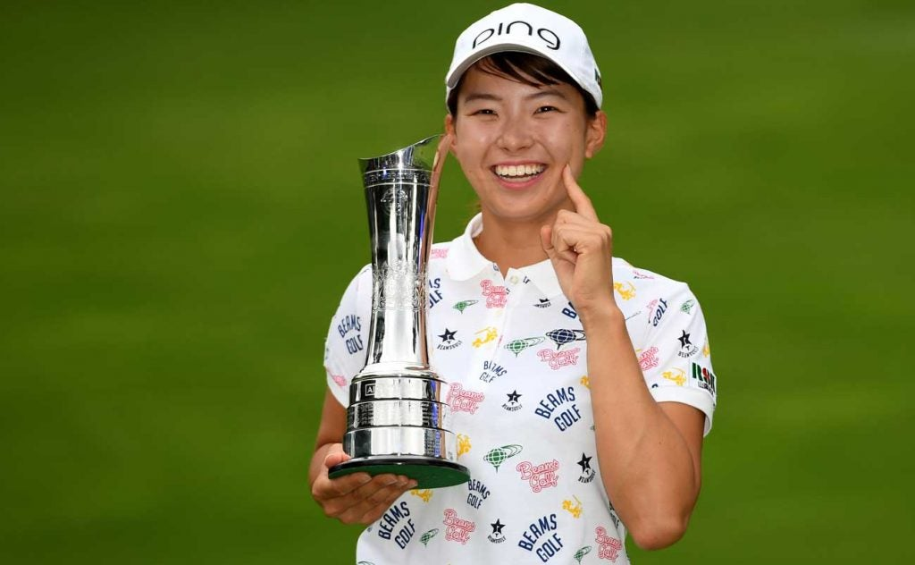 Hinako Shibuno won the Women's British Open in her first ever start outside of Japan.