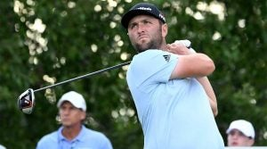Jon Rahm is in contention at The Northern Trust at Liberty National.