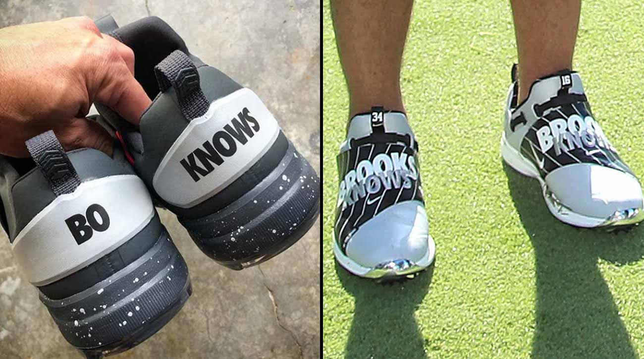 Brooks Koepka Bo Jackson Rock Custom Nike Golf Shoes At