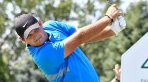 Patrick Reed tees off on the 4th hole during the final round of The Northern Trust.