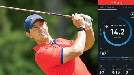 Rory McIlroy's Whoop 3.0 watch.
