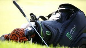 A look at Tiger Woods' golf bag.