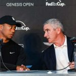 Presidents Cup: Tiger Woods with Jay Monahan
