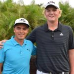 Tommy Morrison towers overs PGA Tour star Rickie Fowler