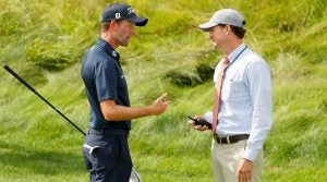 Webb Simpson's cracked driver at Northern Trust