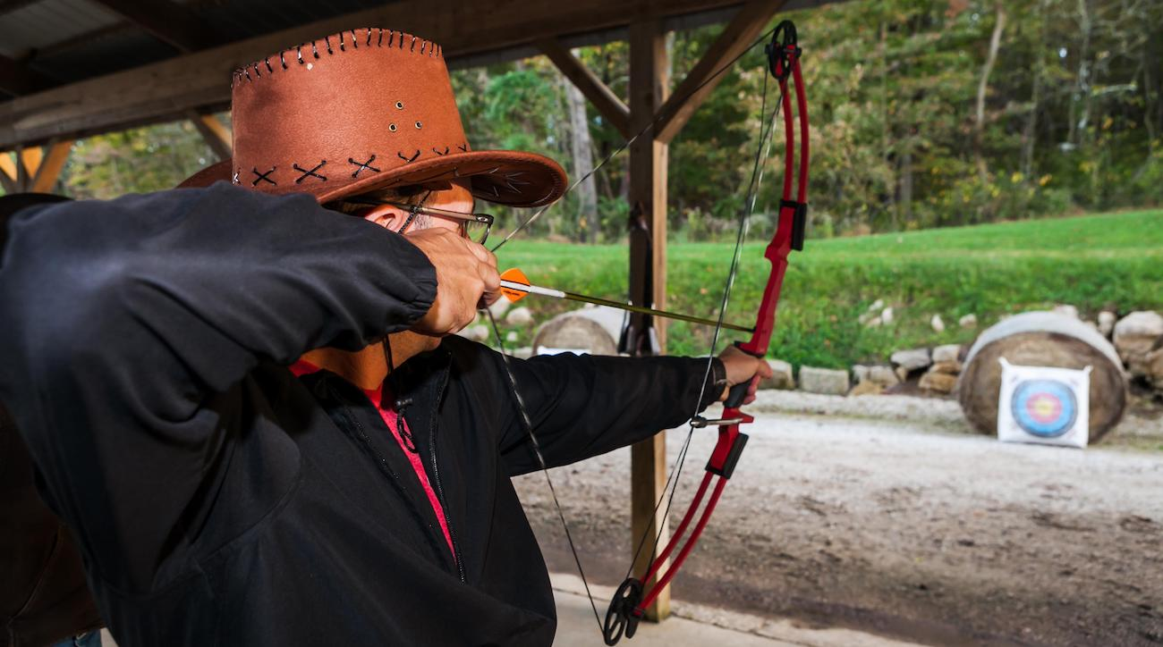 Archery is one of many outdoor activities available at French Lick Resort.