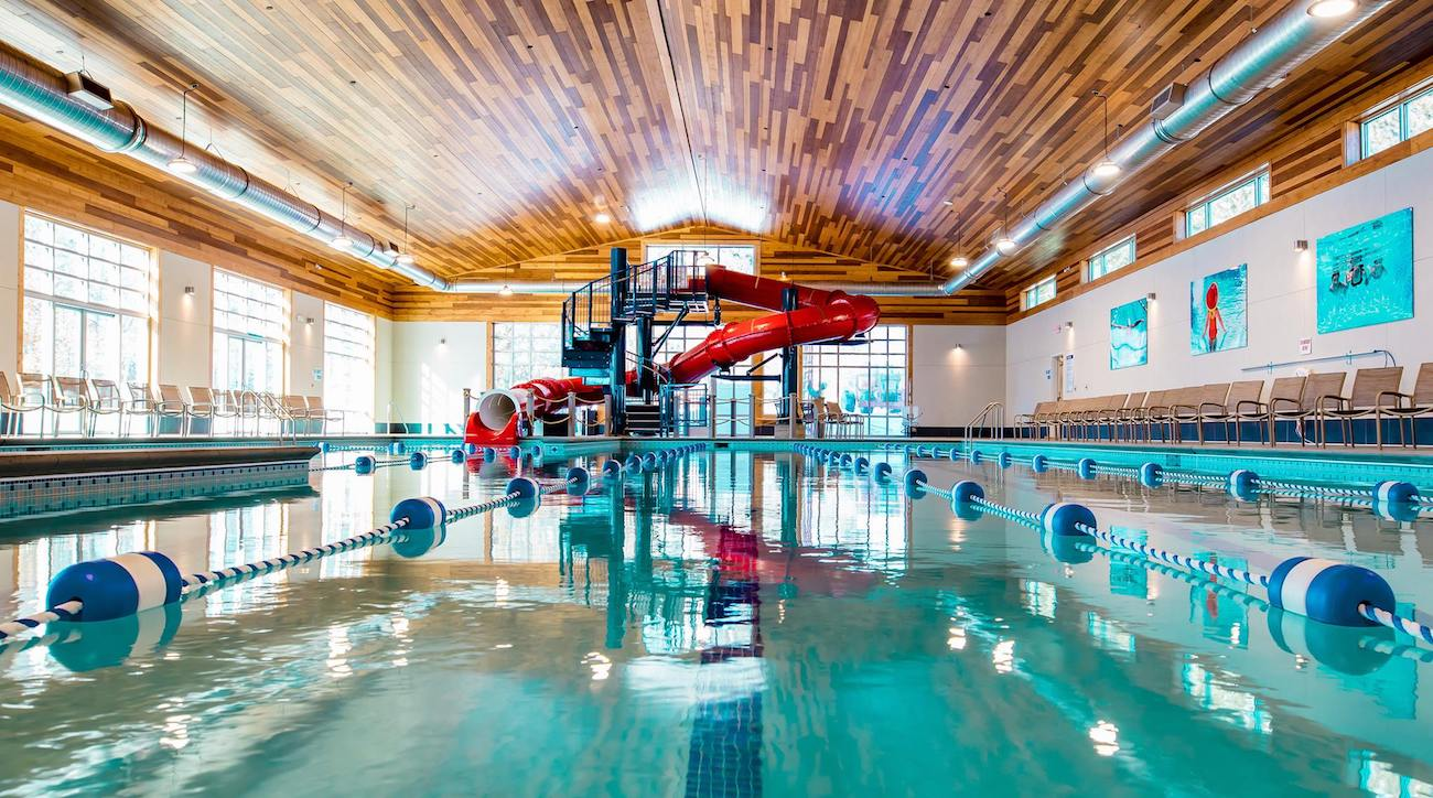 An indoor pool at Grand VIew Lodge.