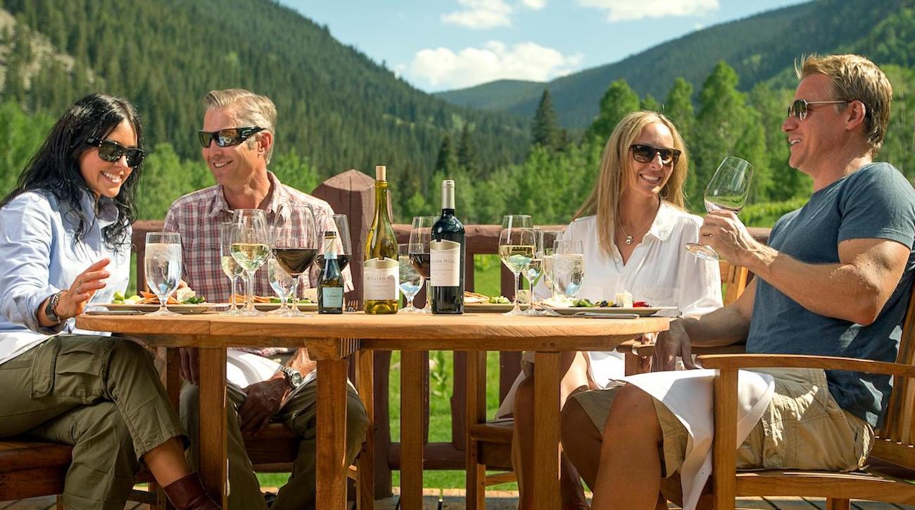 Guests enjoy dinner at Beaver Creek.