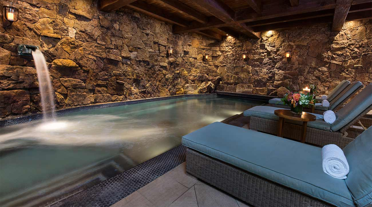 The grotto at The Ritz-Carlton, Bachelor Gulch.