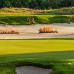 Caledonia was Mike Strantz's first solo design, and the creativity that became his trademark comes through in the compelling bend of fairways and the large, wild greens.