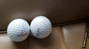 Cracks are visible on the cover of Costco's Kirkland Signature four-piece ball.