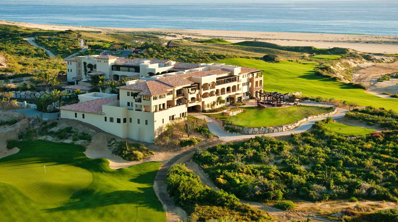 The spectacular clubhouse at the Resort at Diamante in Cabo San Lucas.