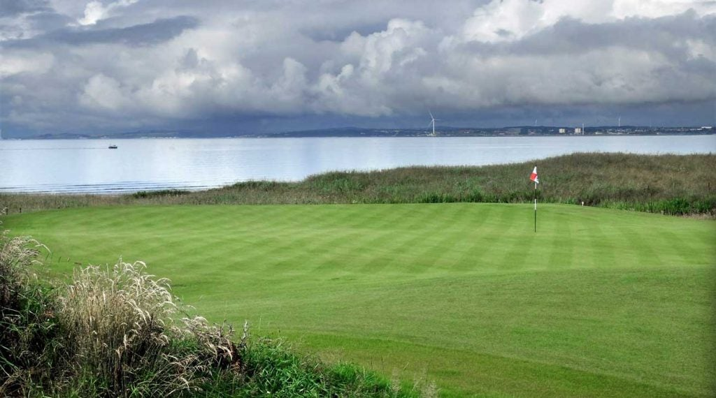 The 10th hole at Dumbarnie Links.