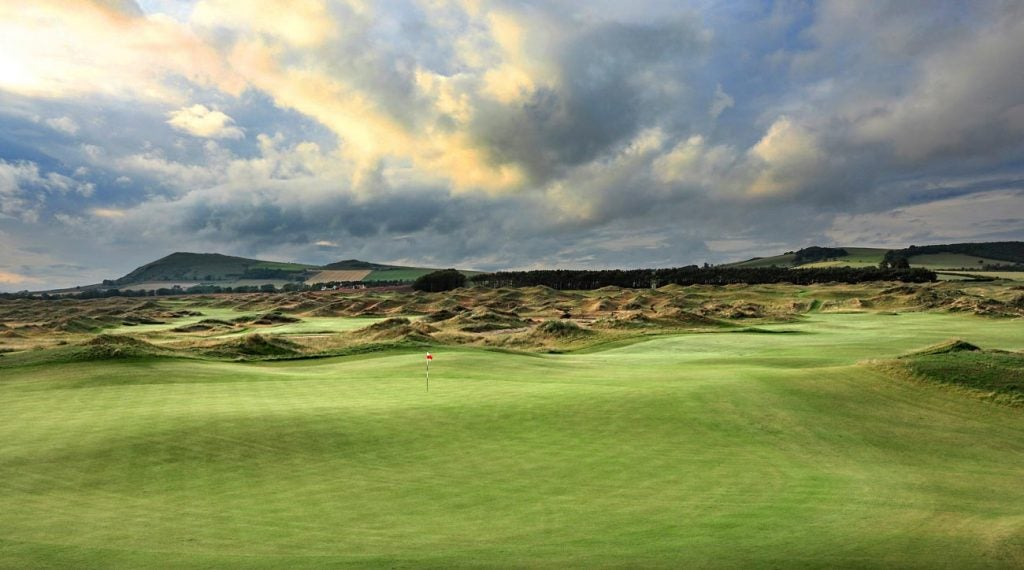 The split-level 9th green at Dumbarnie Links will be challenging.