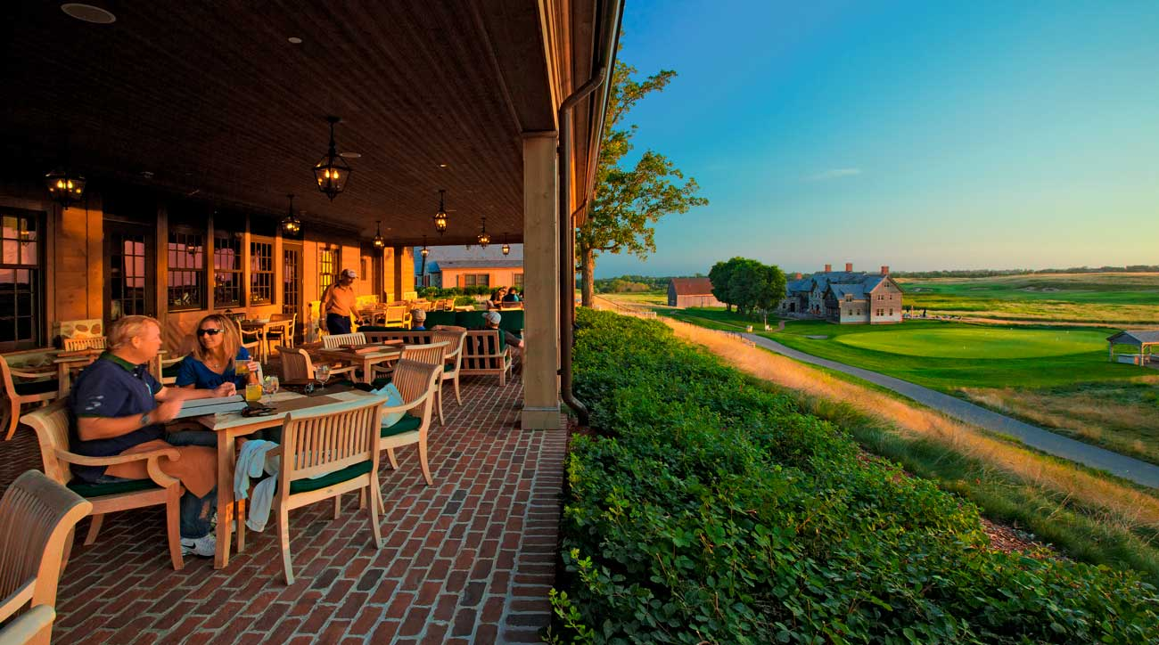 The patio at Erin Hills' clubhouse is a special place to watch the world go by.