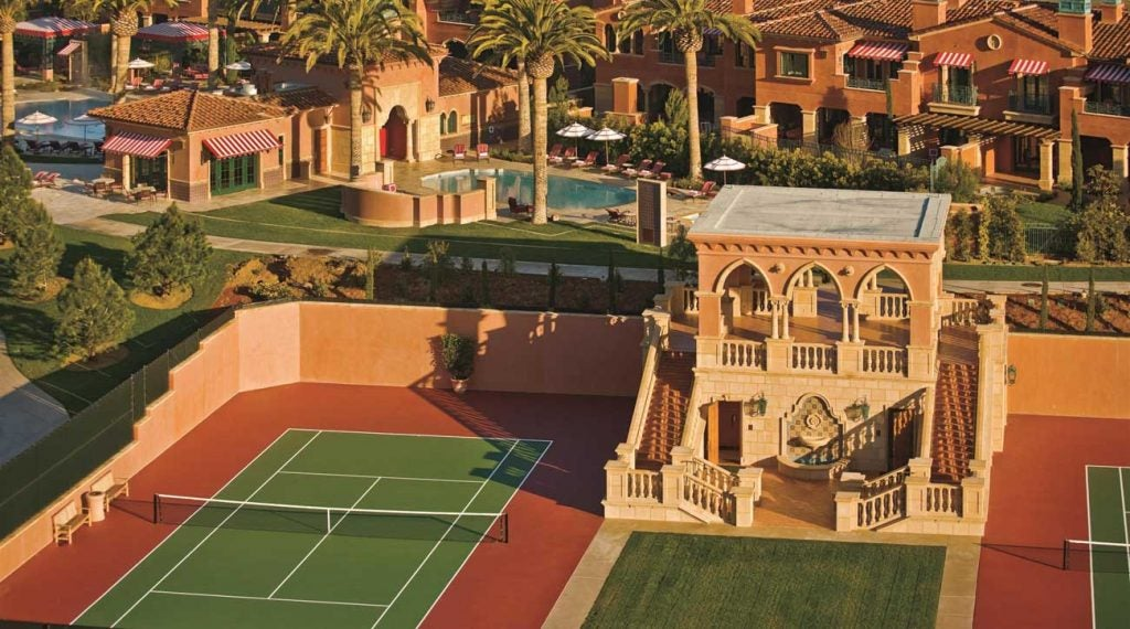 The grass on the fairway isn't the only turf where you can practice your skills at Grand Del Mar.