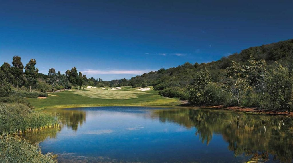 A view of the golf course at the Fairmont Grand Del Mar.
