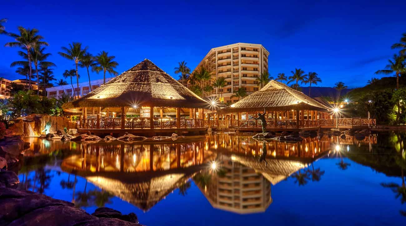 The hotel at Grand Wailea Maui is shaped like a sea turtle.