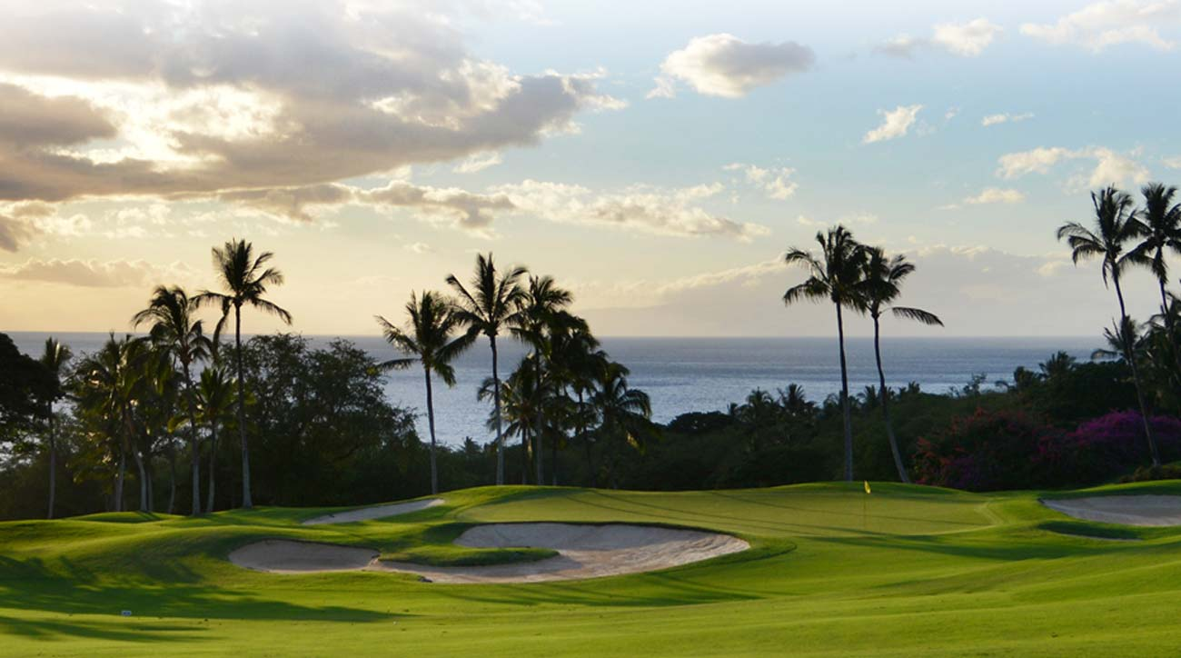 A view of the green at Grand Wailea Maui.