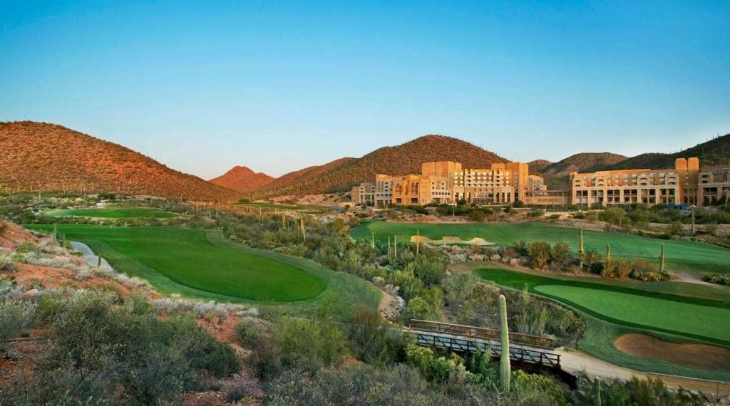 An exterior view of the JW Marriott Tucson Starr Pass Resort & Spa.