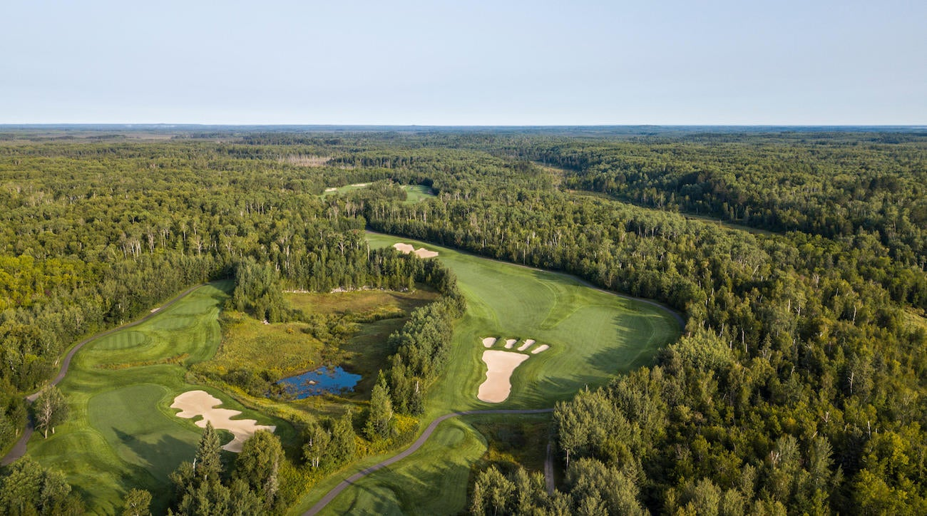 Giants Ridge features two championship golf courses, and at least one memorable bunker.