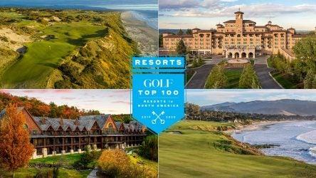 GOLF's Top 100 Resorts in North America.