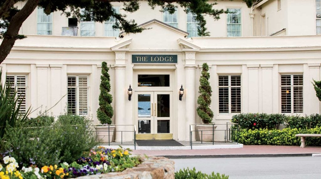 The century-old Lodge at Pebble Beach ages gracefully above Carmel Bay.