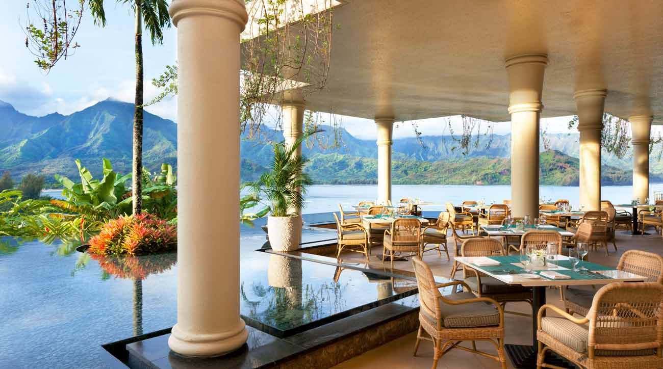 The Makana Terrace at Princeville Resort Kauai.