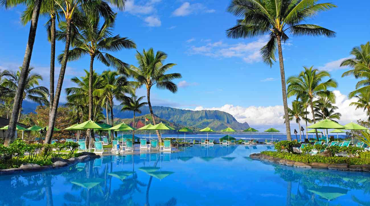 The infinity pool at Princeville Resort Kauai.