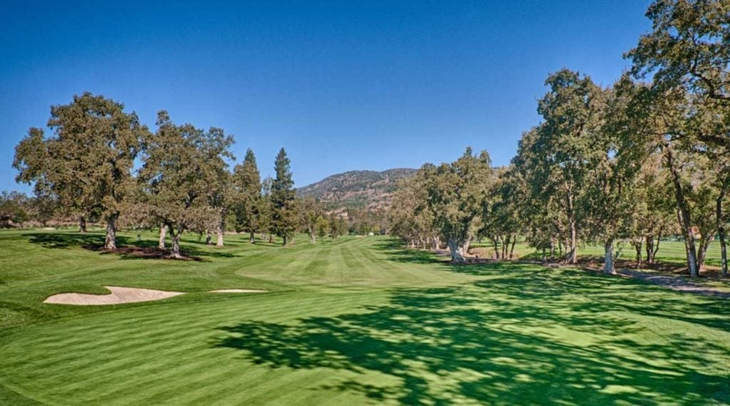The beautiful 16th hole at Silverado Resort's North Course.