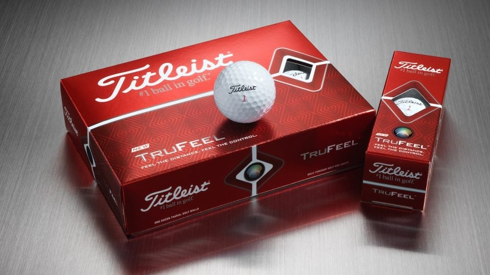 Titleist's TruFeel golf ball is designed to deliver more distance and control in a low compression package.