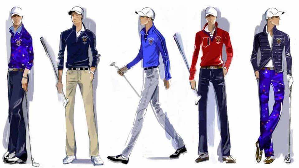 Walker Cup team uniforms