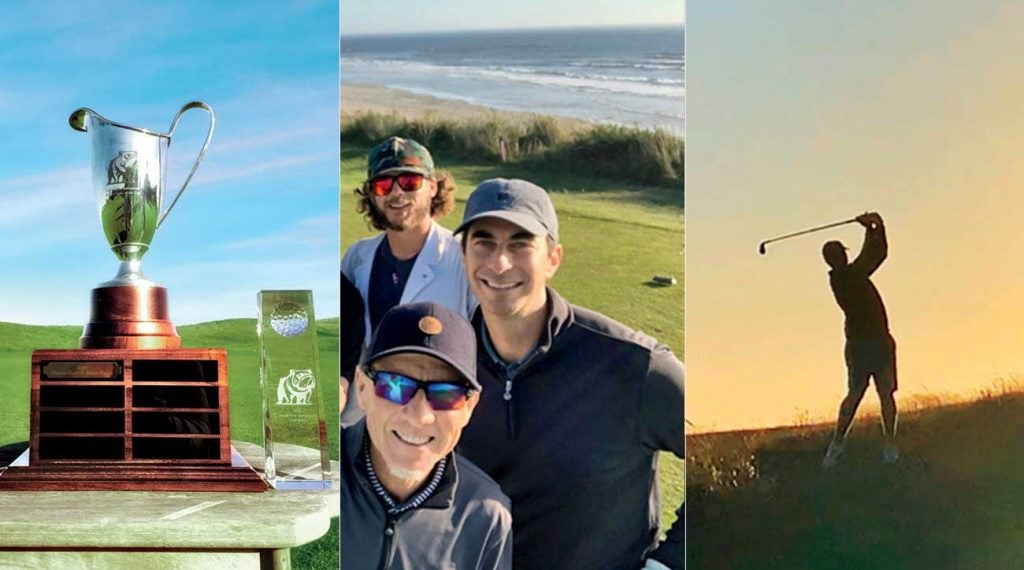 Alan Shipnuck and his buddies at his golf trip to Bandon Dunes.