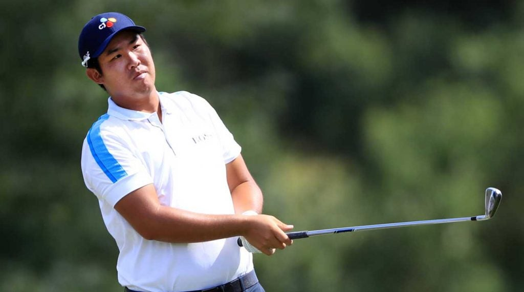 Ben An could win his first PGA Tour event Sunday, and the favor of Presidents Cup captain Ernie Els.
