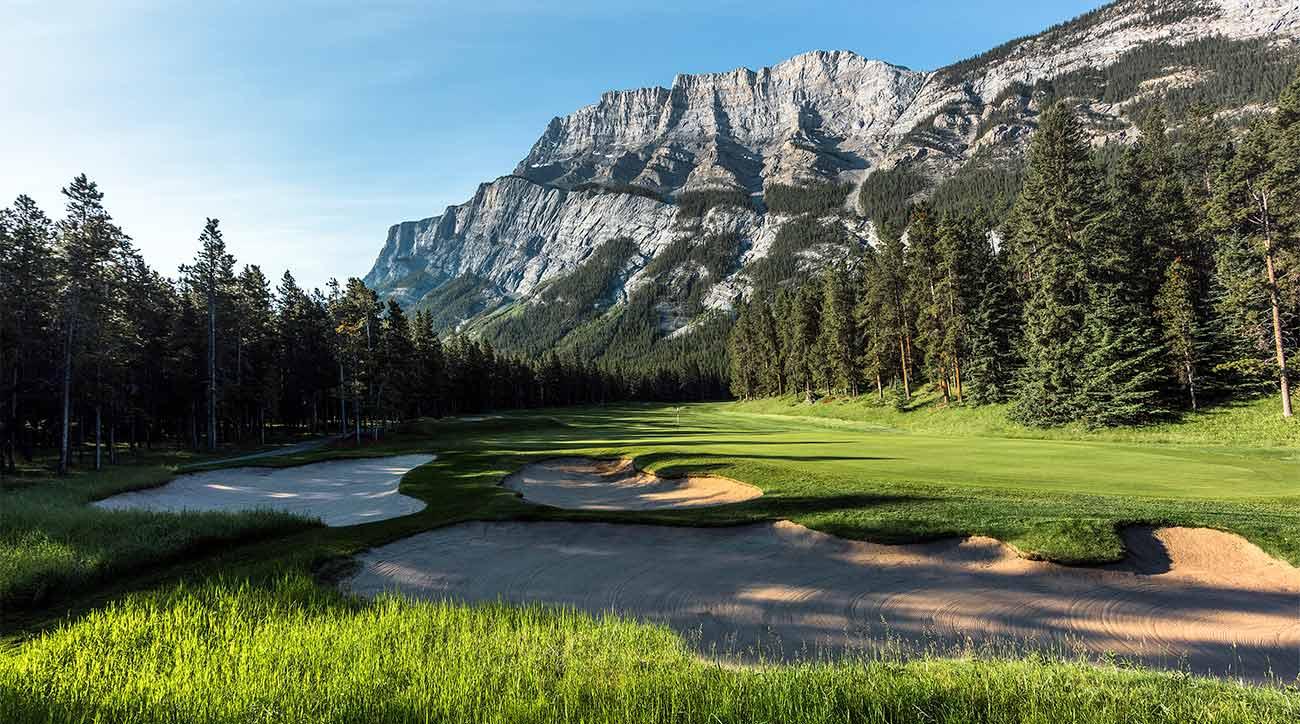 A scenic shot of Fairmont Banff Springs in Banff, Alberta.