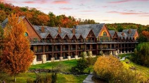 Some of the lodging at Big Cedar Lodge.
