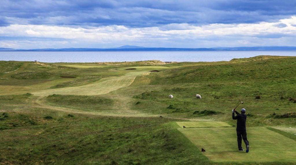 The 17th tee at Brora Golf Club in Brora, Scotland.