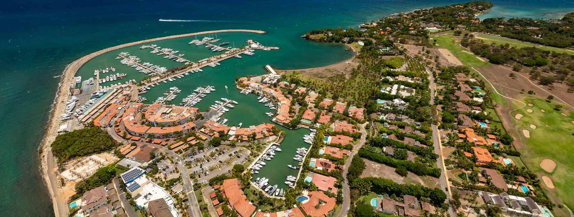 An aerial view of Casa de Campo resort.