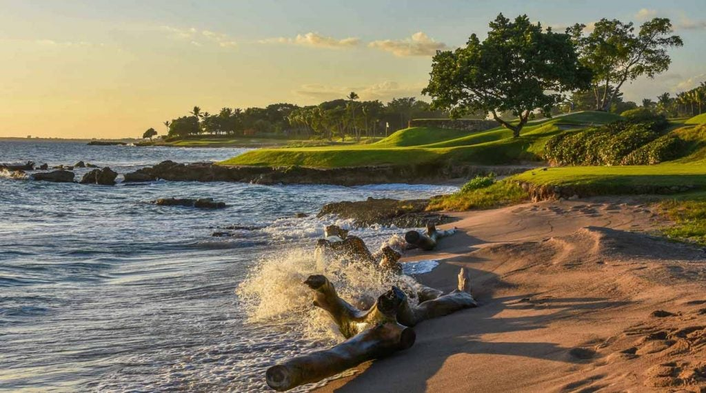 The 5th hole at Casa de Campo's Teeth of the Dog golf course.