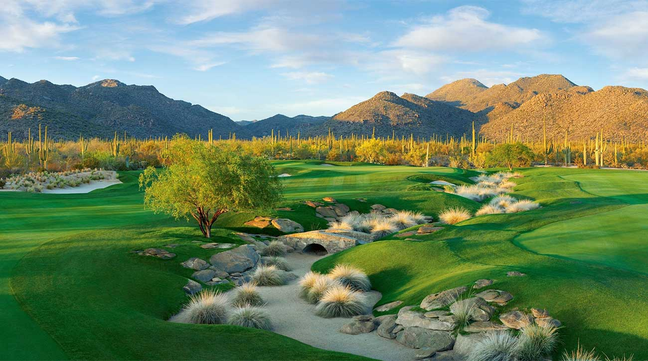 There are 27 challenging holes of golf at The Ritz-Carlton Dove Mountain in Marana, Ariz.